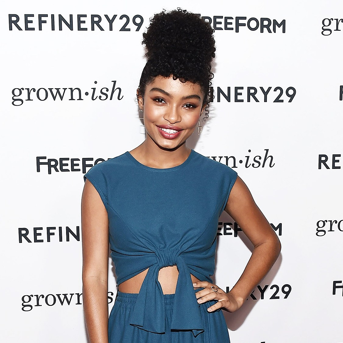 Yara Shahidi arrives at the premiere of ABC's Grown-ish